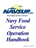 Navy Food Service Operation Handbook