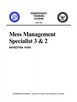 Mess Management Specialist 3 &2 NAVEDTRA 14164